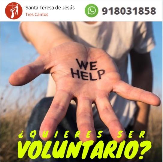 ¿Quires ser voluntario? Escríbenos al Whatsapp 9180331858