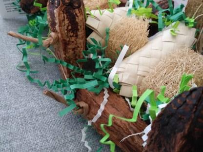 parrot toys with mahogany pods
