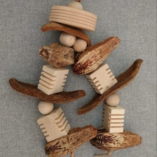 natural wood parrot toys
