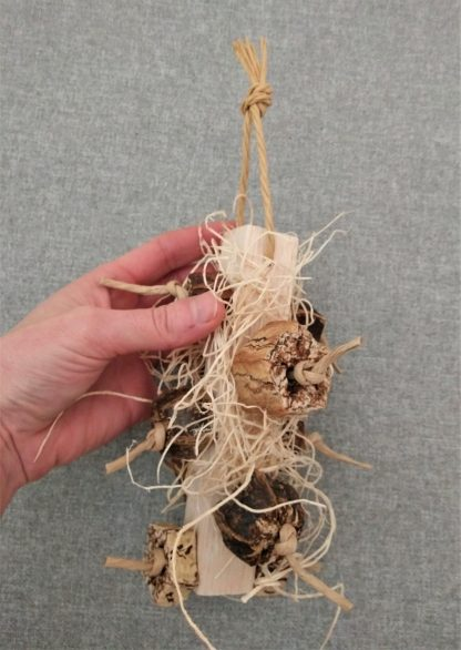 natural bird toys with balsawood