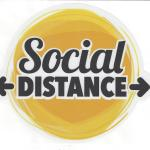 Social Distancing Decal