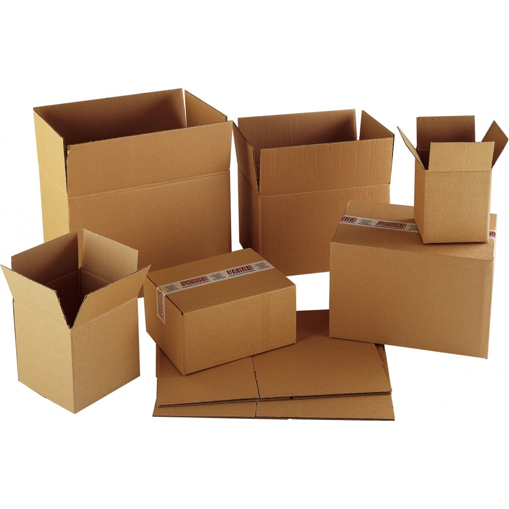 Cardboard Boxes from Parrs   Workplace Equipment Experts Cardboard Boxes Cartons   Single Wall