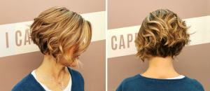 Colorazione capelli con falde oblique