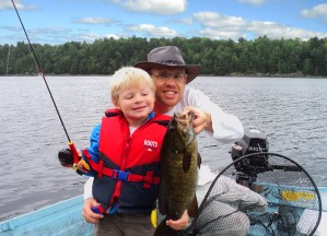 Fishing for Bass in Parry Sound