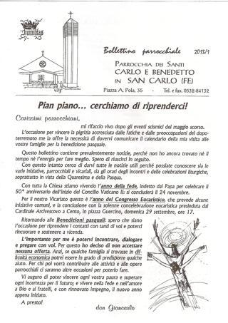 Bollettino Parrocchiale 2013/1