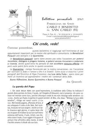 Bollettino Parrocchiale 2014/1