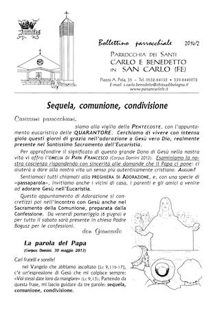 Bollettino Parrocchiale 2014/2