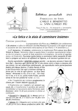 Bollettino Parrocchiale 2014/3