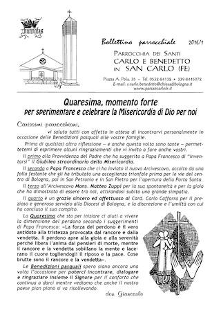 Bollettino Parrocchiale 2016/1
