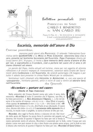Bollettino Parrocchiale 2018/2