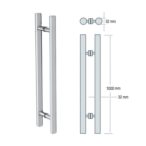 Brushed Stainless 1000mm Long Straight Style Ladder Pull