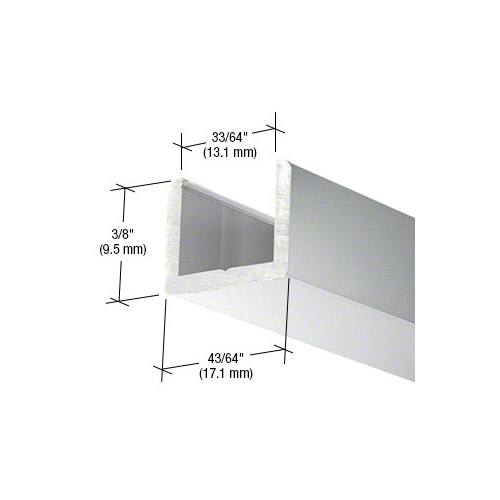 Frameless Shower Door Aluminum Regular U-Channel
