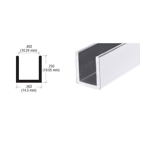 u channel for 10mm glass panel screen