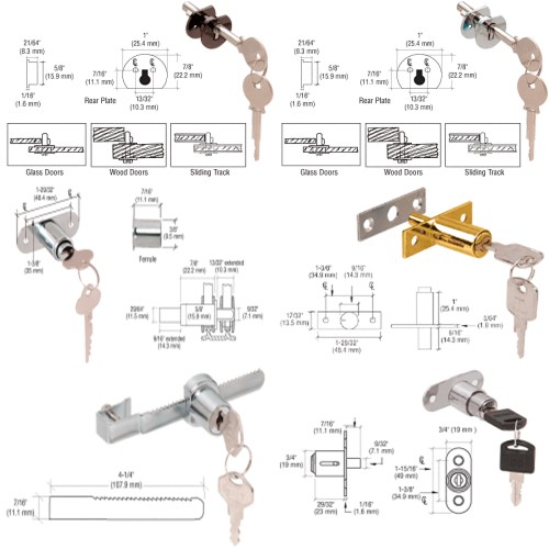 Showcase Glass Door Locks