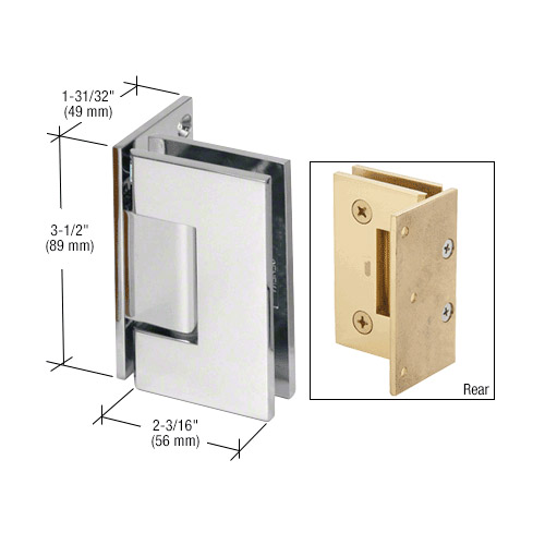 Geneva wall to glass hinges
