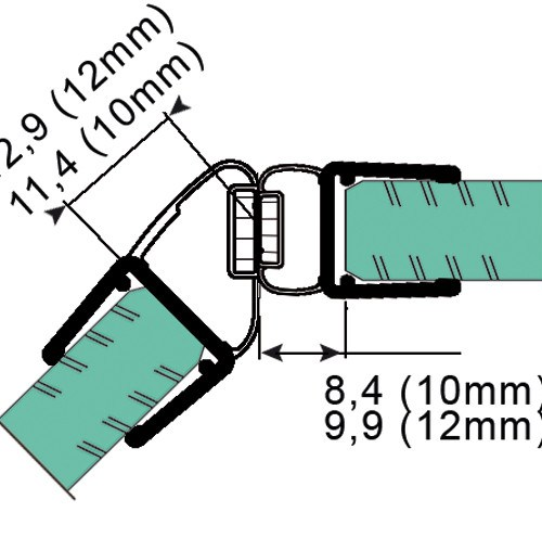 Sealing Strip with 135° Magnetic Profile for 10 - 12 mm