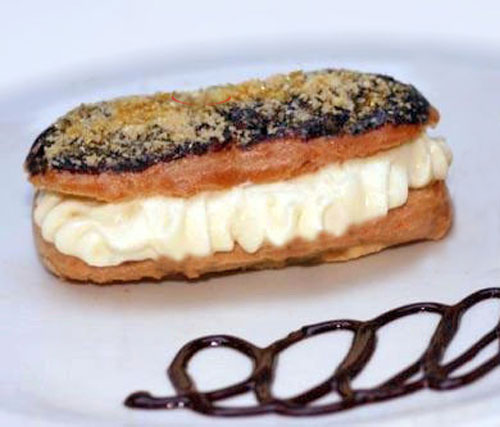 Salted Butter Caramel Rum Banana White Chocolate Cream Eclairs