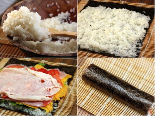 Club Sandwich Sushi! Fish-Free Sushi done Deli Sandwich style!