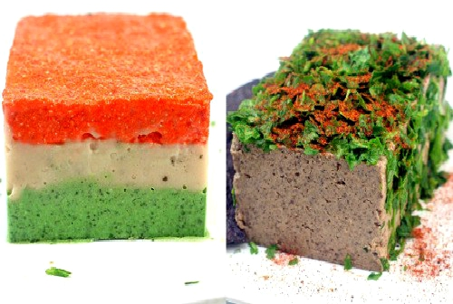 Two recipes for LIVER-FREE Vegetarian Pate! Chili Mushroom Pate and Tricolor Vegetable Pate! Liver free pate for those who don't like liver and those who don't eat meat!