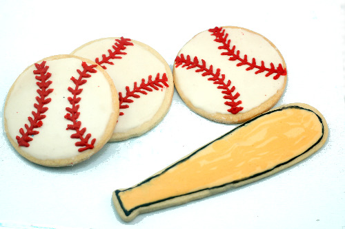 Baseball Decorated Sugar Cookies