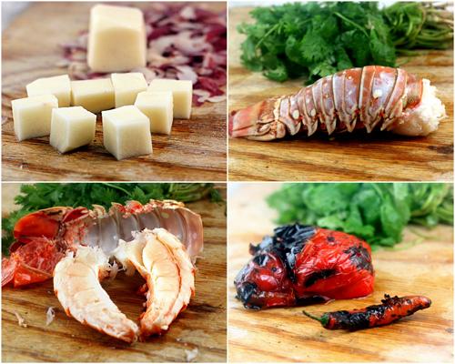 Warm Chile Lime Lobster Potato Salad
