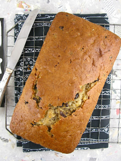 Chocolate Chip Pecan Bread Scented with Cinnamon and Orange for Bread Baking Day #47 Bread with Chocolate!