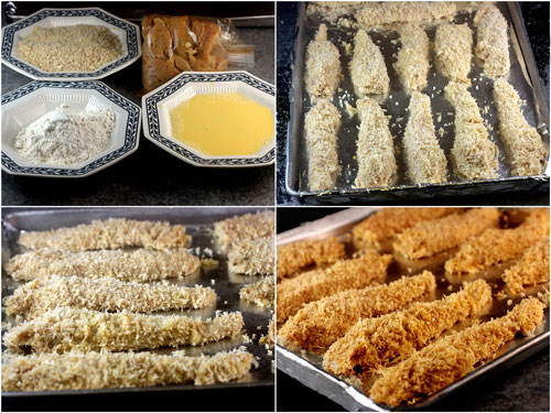 Crunchy Coconut Key Lime Oven Fried Chicken Strips with Spicy Yogurt Dipping Sauce