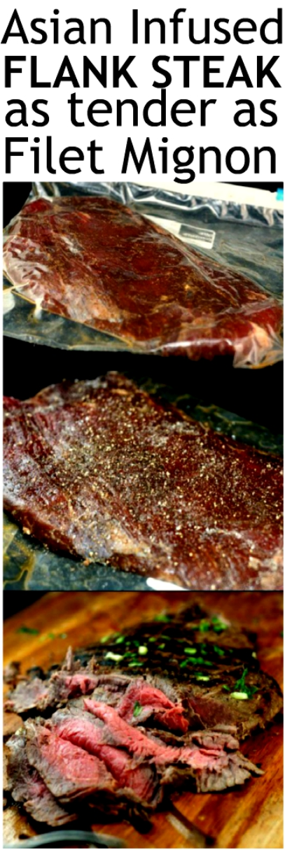 Spectacular Asian Infused Flank Steak and How to Make Flank Steak as Tender as Filet Mignon. #flanksteak #steak #Asianflanlsteak