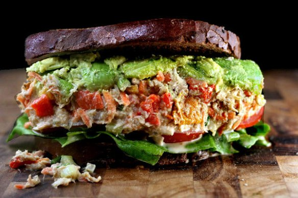 "Jam-Packed Loaded Chicken Salad (or Tuna Salad) with Greek Yogurt Garlic Ranch ""Mayo"""