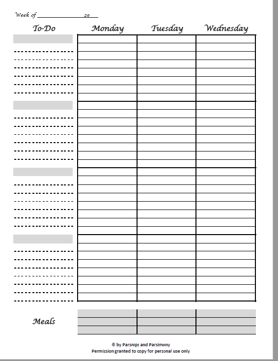 image relating to Printable Weekly to Do List called Cost-free Printable Weekly 2-Web page Calendar Planner with Toward-Do