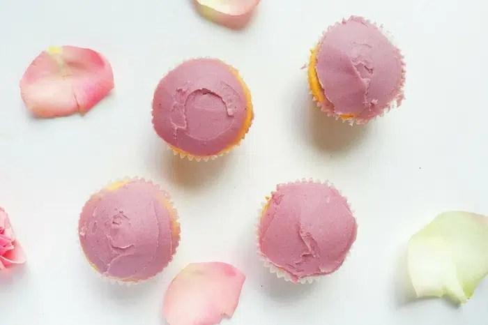 Vegan Lemon Coconut Cupcakes with Coconut Raspberry Frosting