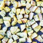 Herb + Ghee Roasted Sweet Potatoes