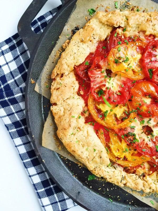 heirloom tomato crostata