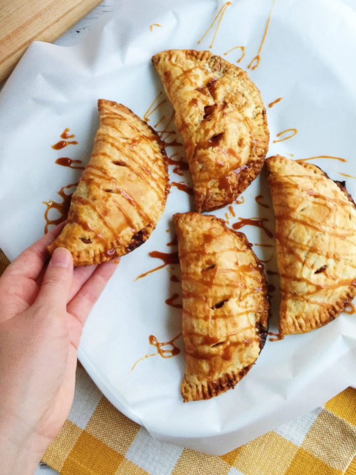 caramel apple hand pies