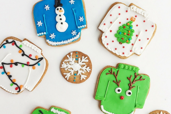 Vanilla Spice Ugly Christmas Sweater Cookies