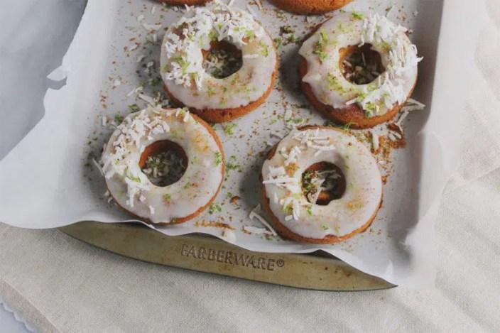 Coconut Lime Paleo Donuts