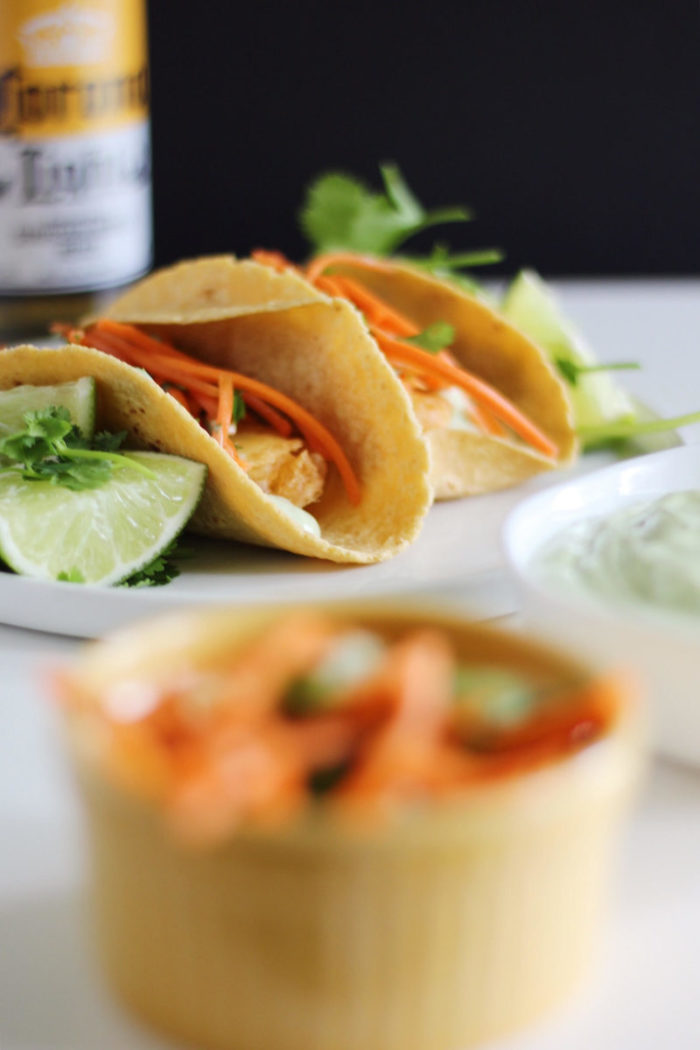 beer battered zucchini tacos
