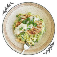 Healthy Chicken Zucchini Alfredo
