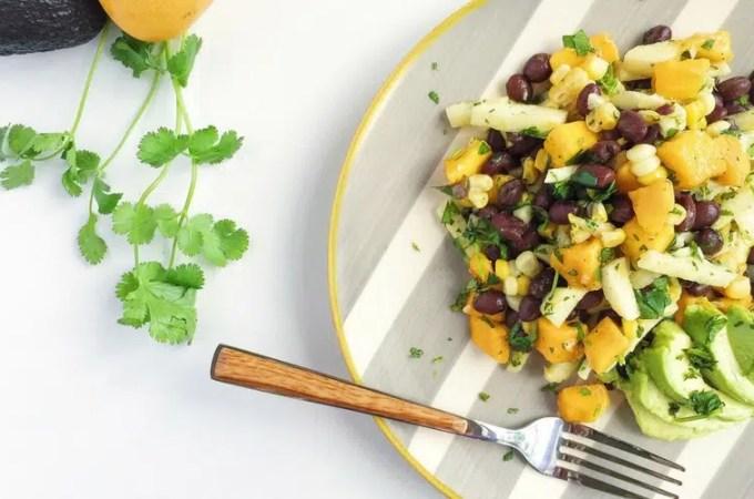 Mango, Grilled Corn and Black Bean Salad