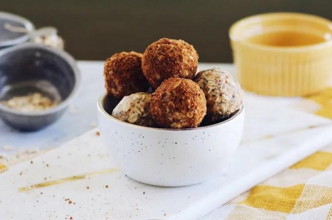 chai spiced protein bites