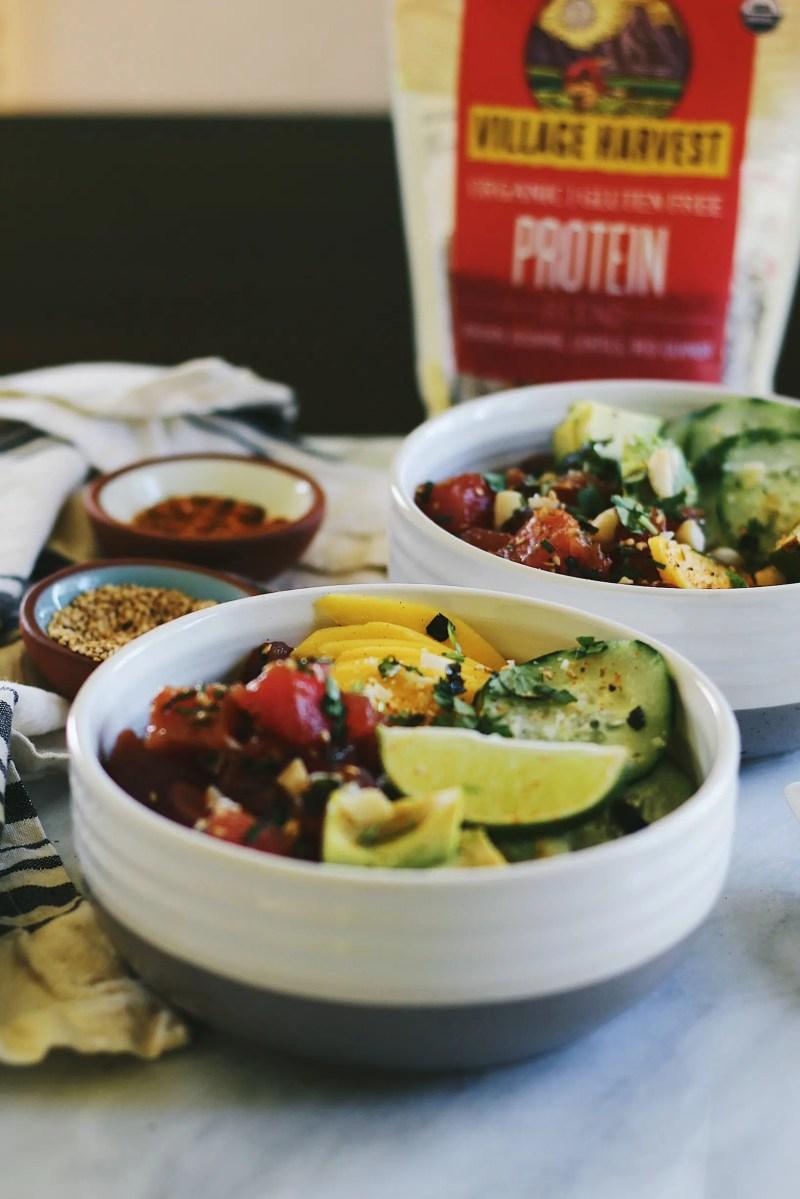 Ahi Tuna Protein Poke Bowls