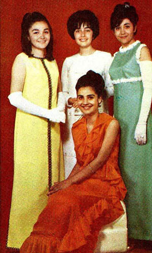 Miss Iran finalists - 1968