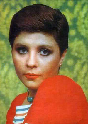 Zari Khoshkam with short hair - early 70s