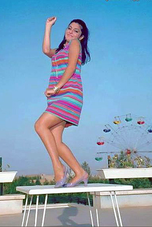 Googoosh in miniskirt - early 70s