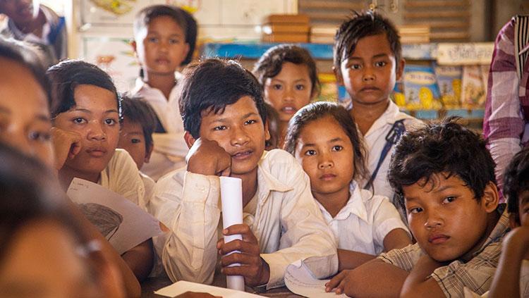 Une école au Cambodge