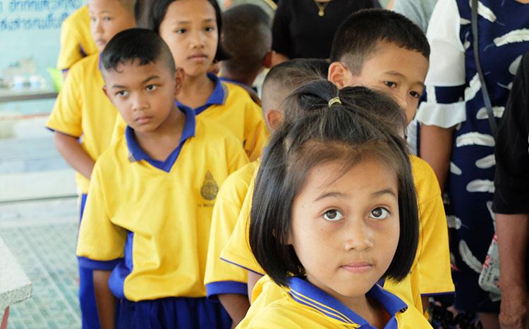 Écoliers en Thaïlande