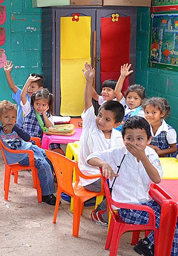 enfants bénficiaires de compartir au honduras