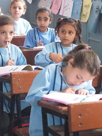 Élèves Égyptienne en classe