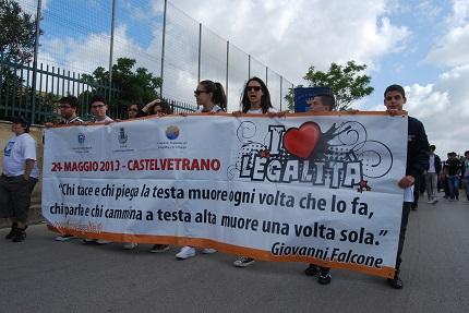 studenti corteo legalità