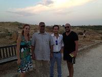 Da sinistra: l'Assessore Giacalone, lo Sceicco Al Amhed, il Vice-Sindaco Campagna e Christian Basone